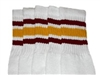 Kids socks with Maroon-Gold stripes