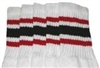 Mid calf socks with Red-Black stripes