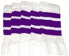 Mid calf socks with Purple stripes