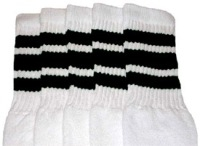 Mid calf socks with Black stripes