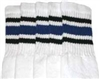 Mid calf socks with Black-Royal Blue stripes