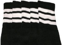 Mid calf socks with White stripes