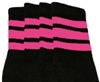 Knee high socks with BubbleGum Pink stripes