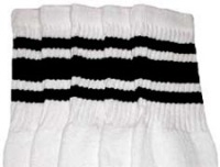 Knee high socks with Black stripes