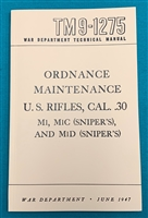 Book Manual Technical TM9-1275  M1 Garand