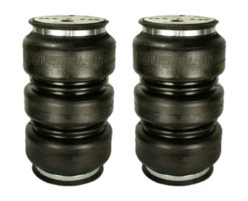Air Bags Suspension >> 2 Pack Universal Air Suspension Triple Play Air Bag 3 8 Npt Port For Light Weight Application Only For Rear Sold As Pair