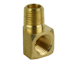 "1/4"" Street Elbow with Male 1/4"" Male NPT and 1/4 Female NPT Threads"