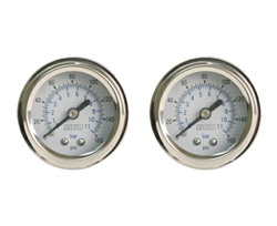 "[2] Pack Viair 1.5"" Diameter 160 Psi Single Needle Gauge White Face 90084 (No Back Light), sold as pair!"