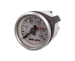 "KP Component 200 Psi Dual Needle 2"" DIA White Face Gauge"