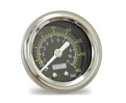 "Viair 1.5"" Diameter  160 Psi Single Needle Gauge Black Face 90085 (No Backlight), sold each!"