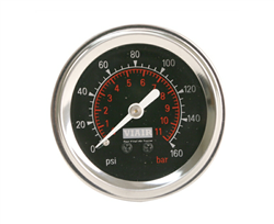"Viair 2"" Diameter 160 PSI Max Black Face Gauge with Back Light 90088, sold each!"