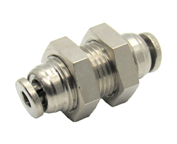 "Nickel Plated Brass 1/8"" PTC Bulk Head Union"