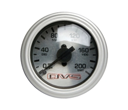 AVS Silver Face Single Needle Gauge 200 PSI Max.