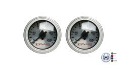 [2] Pack AVS Silver Face Single Needle Gauge 200 PSI Max with Different LED Color Options,Sold As Set