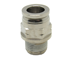 "1/2"" PTC X 3/8"" NPT Nickel Plated Brass Male Connector"