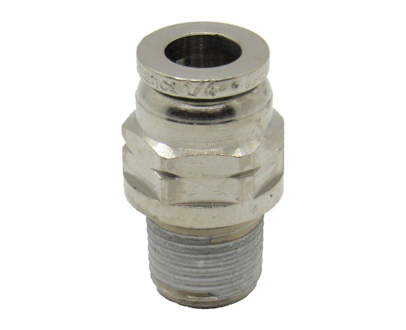 Numatics Push To Connect Male Straight Connector Fitting 3//8 NPT Male to 1//4