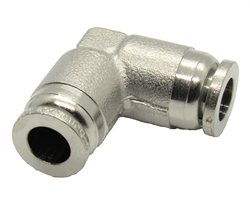 "Nickel Plated Brass 1/4"" PTC Union Elbow"