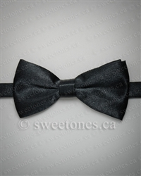 Boys formal adjustable black bow tie