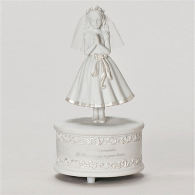 Musical First Communion Girl Figurine