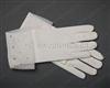 Ivory Matt Satin Glove with Rhinestones