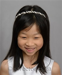 Silver rhinestone headband with rystals