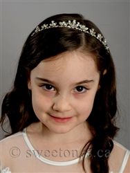 Flower girl rhinestone tiara headband