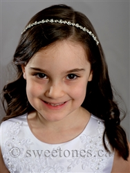 First Communion girls rhinestone hairband