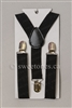 Boys black suspenders