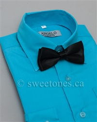 Boy dress shirt & bow tie set