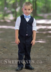 Boys navy slim fit waistcoat suit– Style B-Angelo-NV
