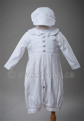 Cotton long sleeved Baptism Christening romper