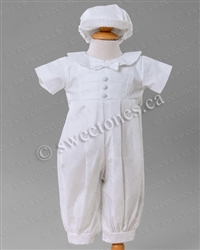 Boys Christening romper Baptism outfit