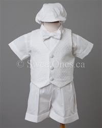 Boy Baptism short set Christening Outfit