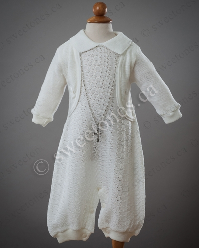 ed9c9abf6 Boy knitted Christening outfit, boy silk Christening gowns, Baptism ...