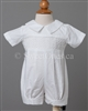 Boys Christening embroidered cotton romper