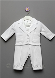 Boy Cotton Christening vest suit Baptism outfit