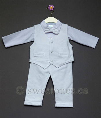 Boys cotton vest suit Christening outfit