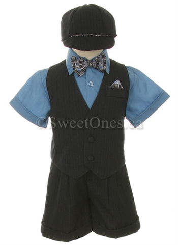 Boy Dark Blue Short Suits