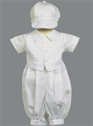 Boy cotton Baptism Outfit