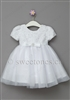 Baptism white lace and tulle dress – Style BG-April