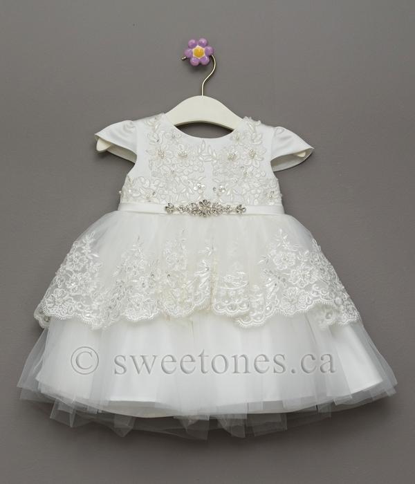 Girls Lace Christening Dress Style Bg Julia