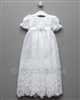 Christening embroidered tulle gown