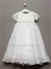Girls satin Christening dress