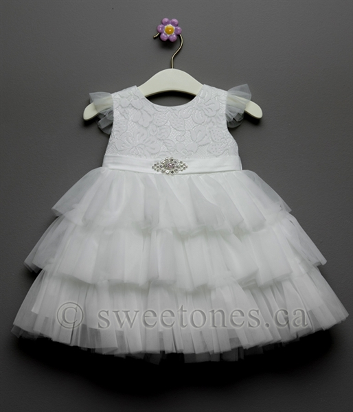 13b77a388 White infant baby party dress
