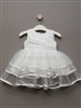 Girls Baptism Three Tiered Tulle Dress – Style BG-Rosemary-Off White