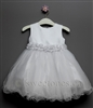 Baby cute tulle dress with floral belt – Style BG-Skylar