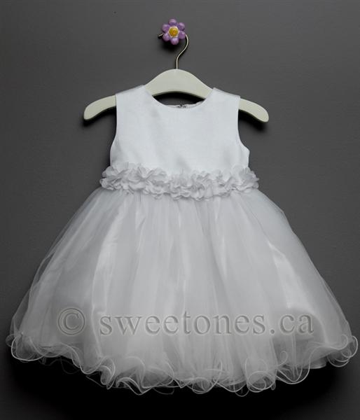 Baby Christening Dress Blessing Dress- Baby Party Dress Baby Girl Outfit- Baby Tulle Dress Baby Girl Baptism Dress- Infant White Dress