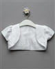 Baby Christening short sleeve bolero – Style CAPE017