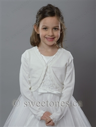 Flower girl bolero shrug cape jacket Canada
