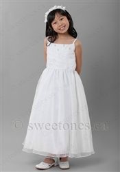 White satin and organza Communion dress– Style FC-Charlie